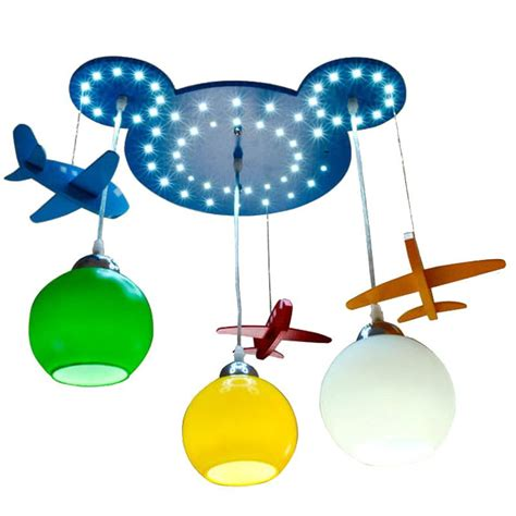 Baby Boy Ceiling Lights Wooden Kid S Room Pendant Ls Airplane Baby Room Ceiling L Boy S Bedroom Led