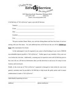 Dj Booking Contract Template by Dj Services Contract In Word And Pdf Formats