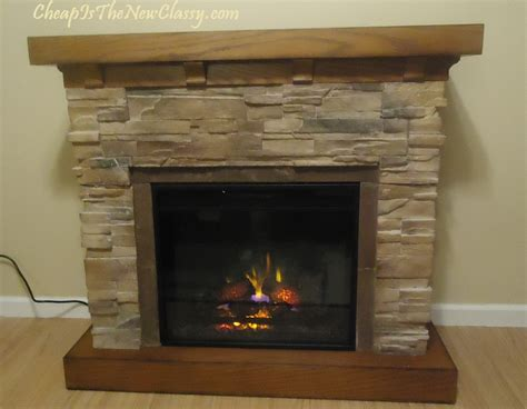 classic flagstone electric fireplace review