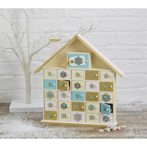 Wooden Advent Calendar House by Wooden House Advent Calendar 40 Cm We Decoupage Paper