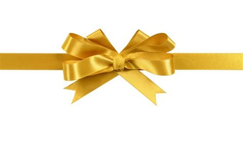 and gold bows gold gift ribbon bow isolated on white background photo