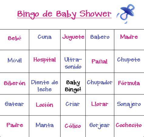 printable baby shower games in spanish spanish baby shower games 2 baby showers pinterest