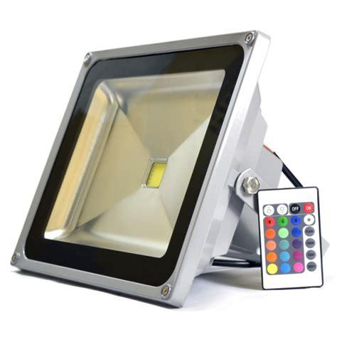 Lu Sorot Rgb 50 Watt 50w 50 watt rgb colour changing led floodlight remote