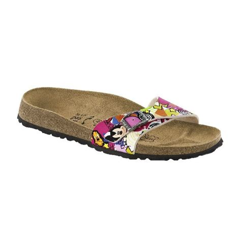 disney sandals birki by birkenstock menorca sandals black white pink