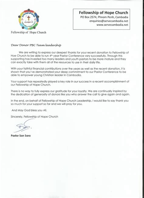 thank you letter to youth pastor pastors conference 183 fellowship of