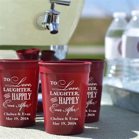 Wedding Favors Cups by Plastic Wedding Stadium Cups Personalized My Wedding