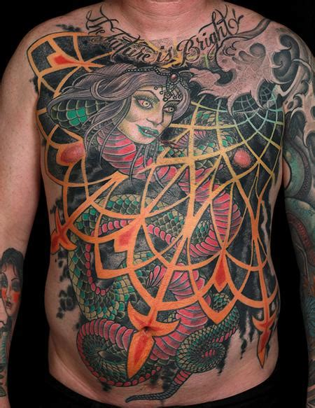 russ abbott tattoo snake torso by russ abbott tattoonow