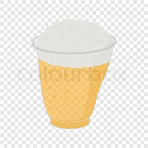 cartoon beer no background beer in plastic cups in cartoon style on transparent