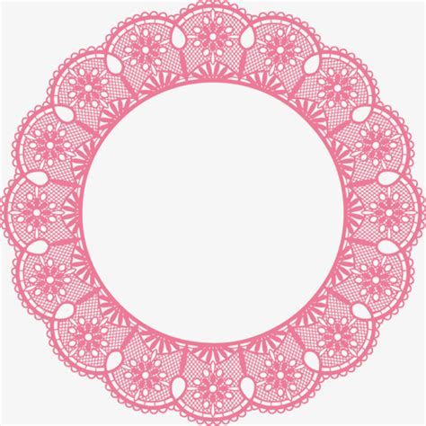 pattern circle pink round pink lace pattern pink circular pattern lace png