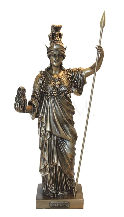 greek god statues athena goddess of wisdom war greek mythology statue pagan