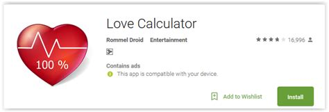 calculator love top 7 best love calculator apps for android to test your love