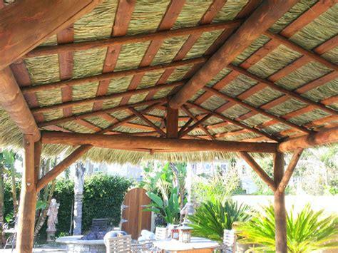How To Build A Tiki Hut Roof by 10x19 Foot Oval Tahitian Palmtiki Hut Palapa 4 Posts