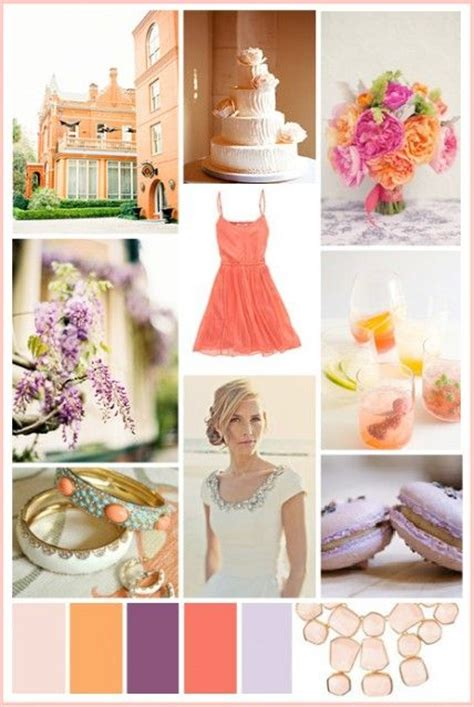 wedding color inspiration coral and lavender the s guide martha stewart weddings