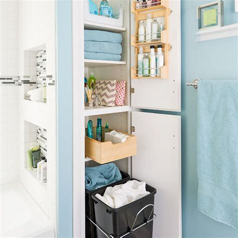 Bathroom Closet Storage Bathroom Closet Organization Home Improvement Pinterest