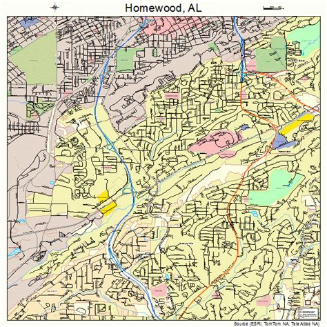 homewood alabama street map 0135800