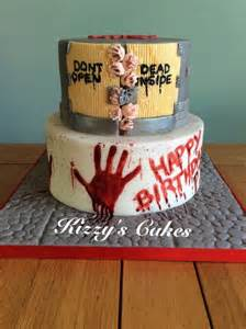 Cake Decorating Ideas Zombies Walking Dead Birthday Cake Cake By Kizzy S Cakes