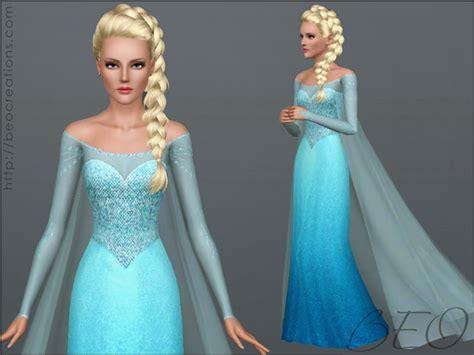 Elsa Sims 3 | my healthy sim addiction elsa dress beo creations