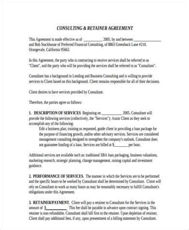 consulting agreement form sles 8 free documents in