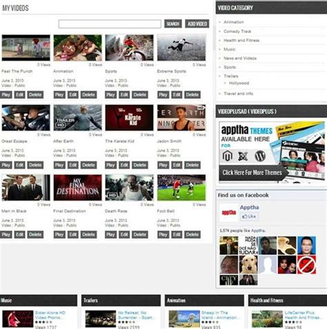 joomla video plus video plus theme video gallery template