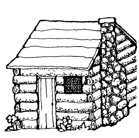 wood house coloring pages log cabin coloring page clipart best