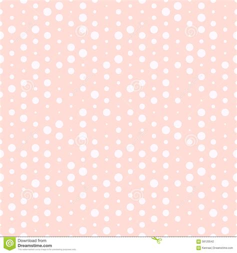 cute pattern texture cute pink and white dotted vector seamless pattern stock