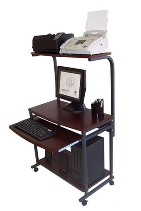 desk 39 inches wide sts 7801 compact portable computer desk w hutch shelf