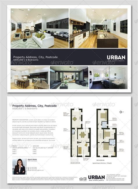 estate window card template modern real estate flyer window card by realestateflyers