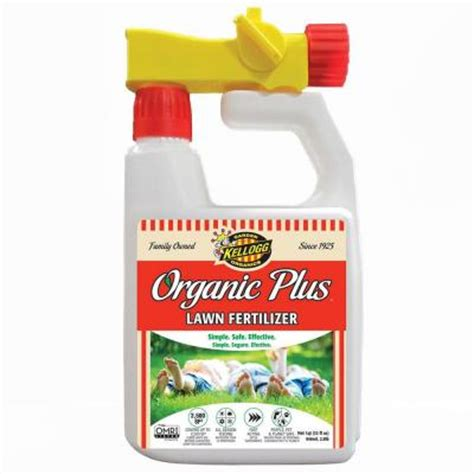 kellogg garden organics 32 oz liquid lawn fertilizer 3009