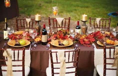 ideas table decorations thanksgiving dinner 20 fantastic thanksgiving decoration ideas for an outdoor