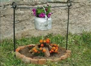 flower pot pit cfire made of flowers gardening