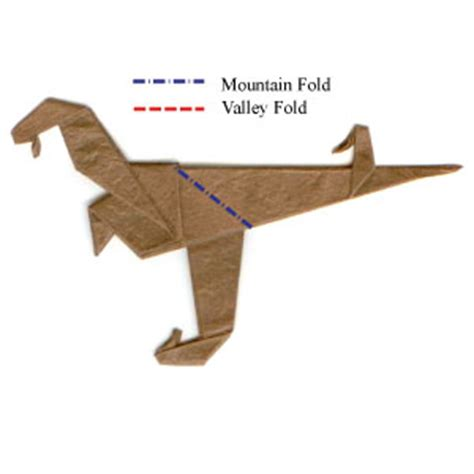 Origami Velociraptor - how to make a simple origami velociraptor page 12