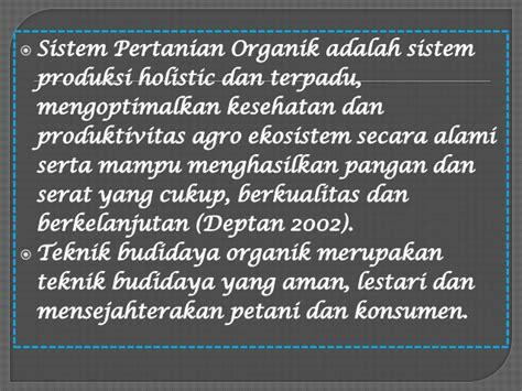 pertanian organik fluktuasi harga produk hortikultura