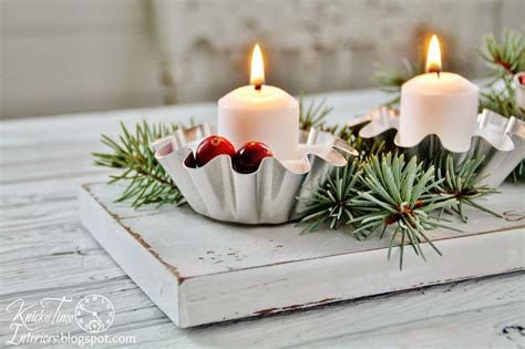 repurposed christmas candle holder centerpieces knick of