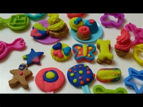 Play Doh Colorful Cookies Sweet Shoppe play doh sweet shoppe jar how to make lollipops cookies cupcakes by quot rainbow collector fh