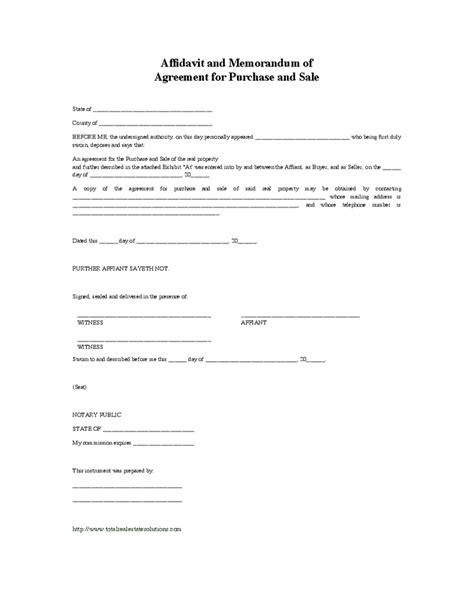 memorandum of sale template best template design images