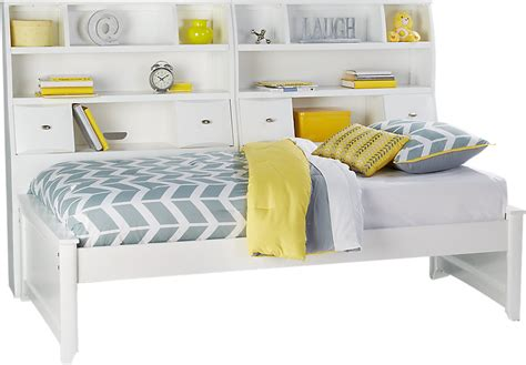 rooms to go headboards ivy league white 5 pc twin bookcase daybed twin beds white
