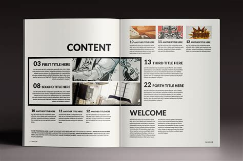 free indesign magazine templates projects magazine brochure indesign templates on behance