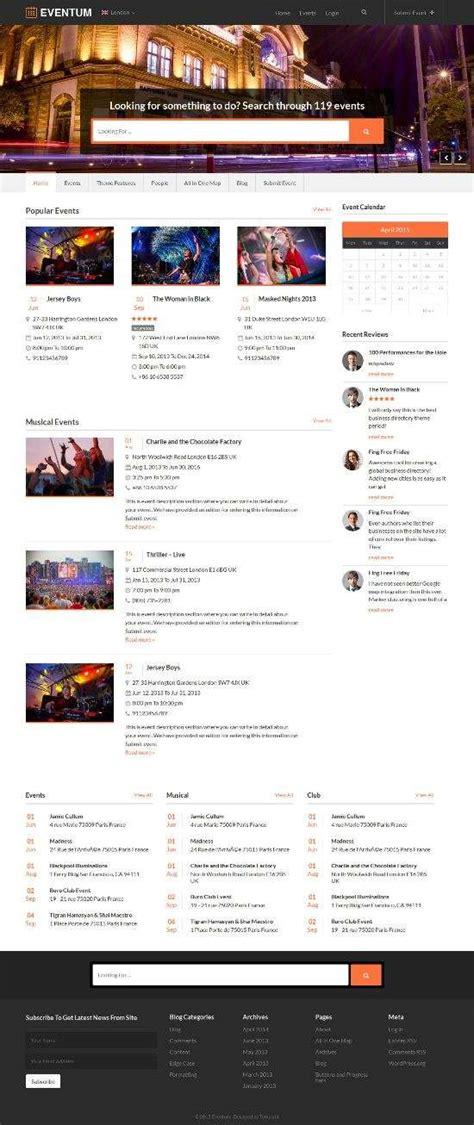 wordpress homepage layout manager eventum wordpress theme avj themes