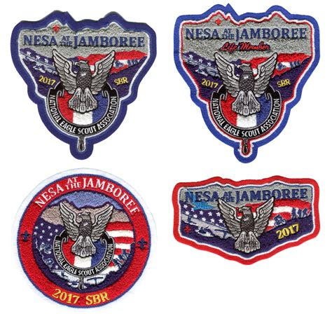 Nesa Set by Chenille Patches Nesa At 2017 Jamboree Set Of All Four