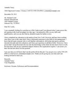 Cover Letter For Unadvertised Position Sle by Cover Letter Consulting It