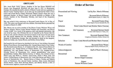 obituary program template 6 sle obituaries letter format for