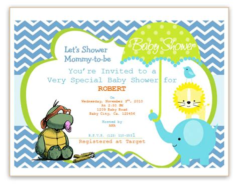 baby shower invitations with photo template free invitation templates save word templates