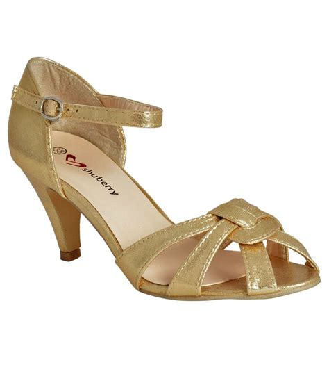 Sandal Wanita Fladeo Gold Kotak shuberry gold cone sandals buy s sandals best price snapdeal