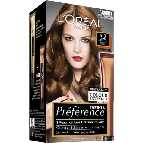 loreal preference hair color l oreal preference hair colour 5 3 siena golden