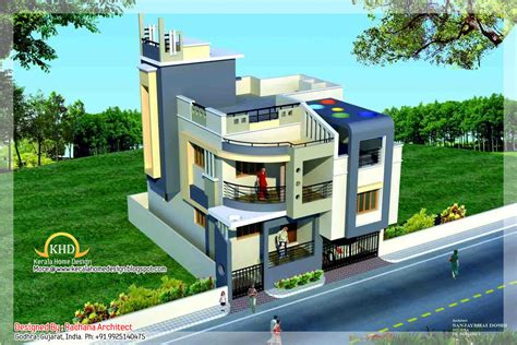 duplex house plan and elevation sq ft kerala home with