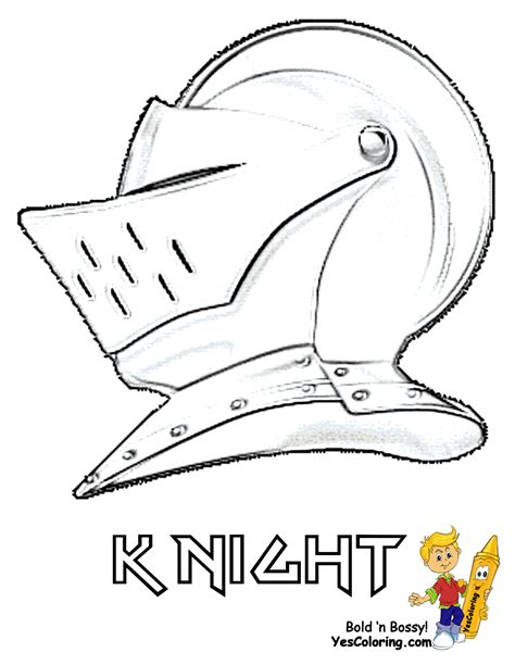 knight helmet coloring page free medieval helmet coloring pages