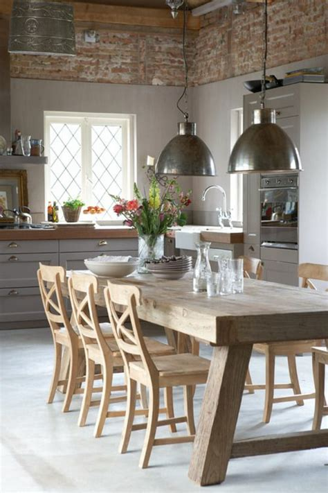 over kitchen table lighting ideas rustikale k 252 chen und die passenden dekoartikel dazu