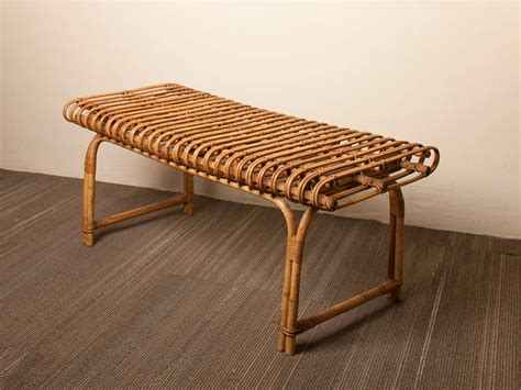 rattan benches french rattan bench at 1stdibs