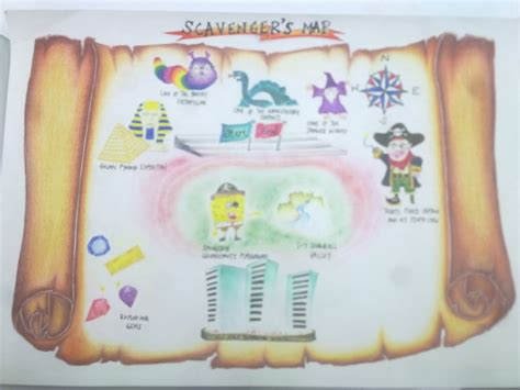 scavenger hunt map template when design is designated to become part of your