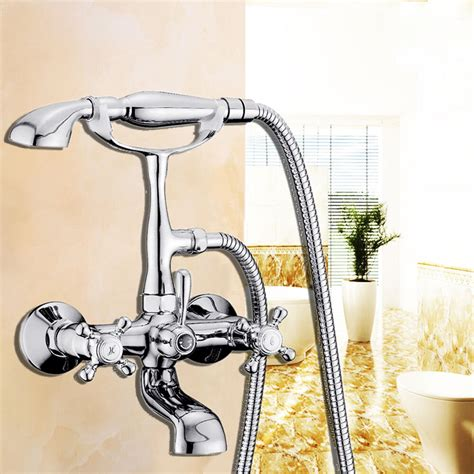 bathroom faucet with sprayer classic chrome clawfoot bath tub bathroom faucet with sprayer 2 handles ebay